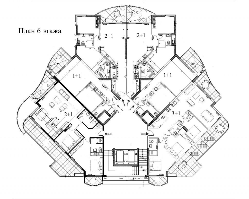 Апартаменты 2+1 ID 040303