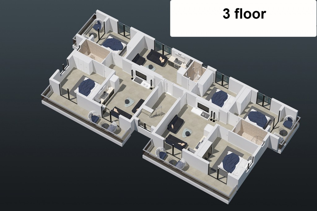 "Апартаменты ""Aquamarine"" 1+1"