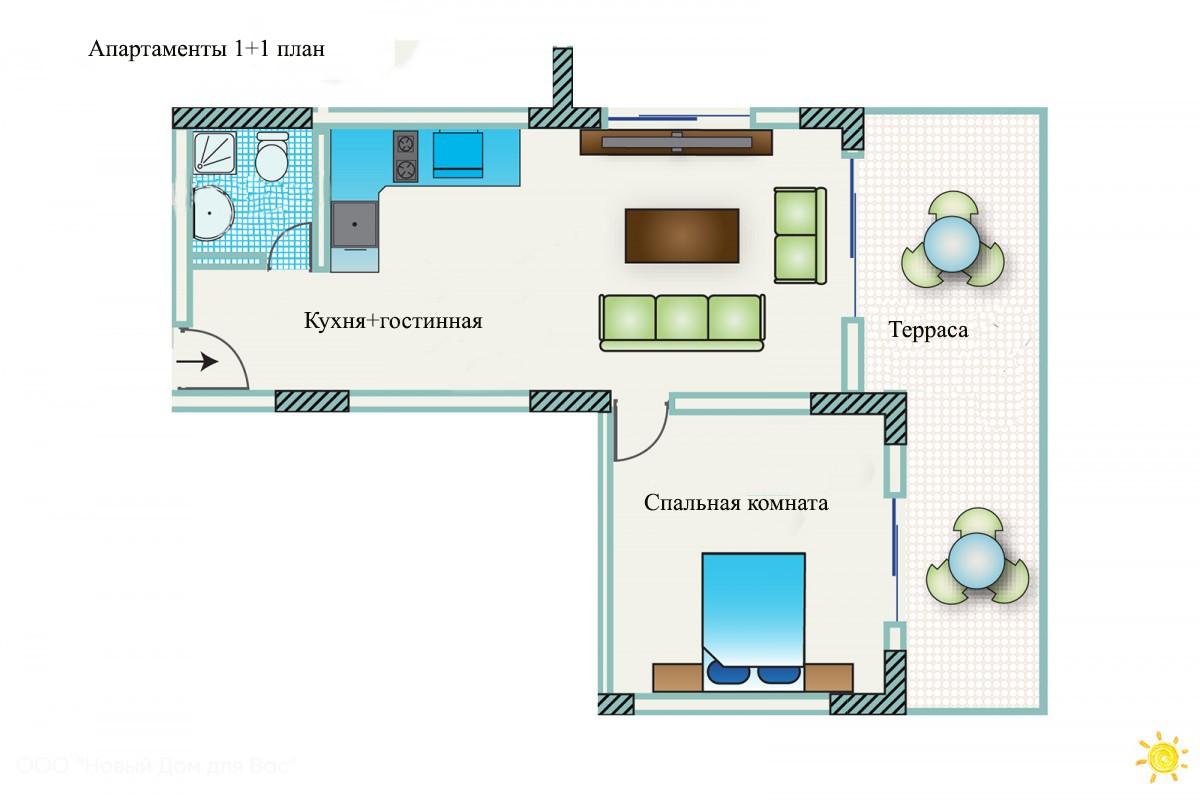 Апартаменты ID 004010 1+1