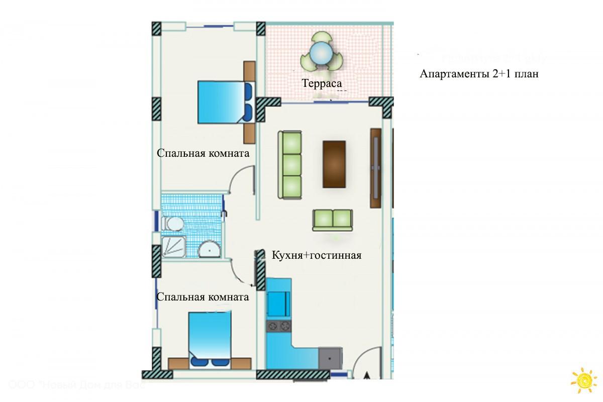 Апартаменты ID 004011 2+1